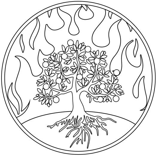 blazing trees stamp