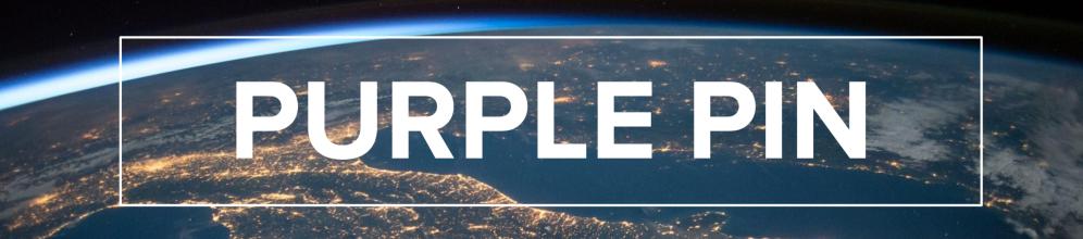 purple pin project banner website