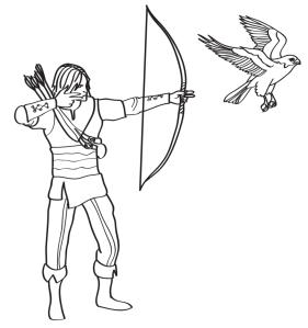 hidden arrows draw square