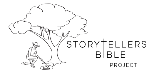 storytellers logo draw text