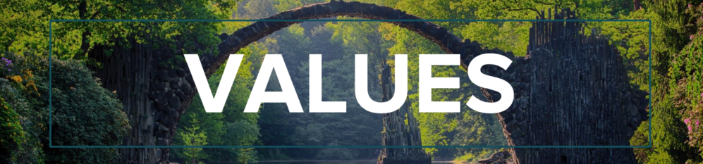 values banner
