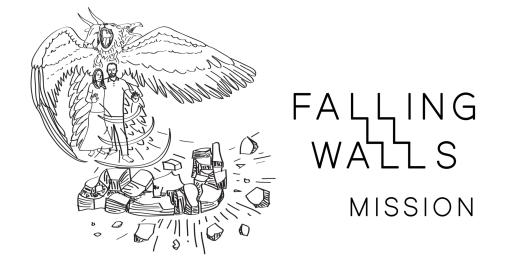 falling walls bw
