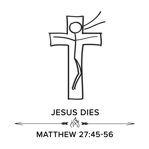 jesus dies square