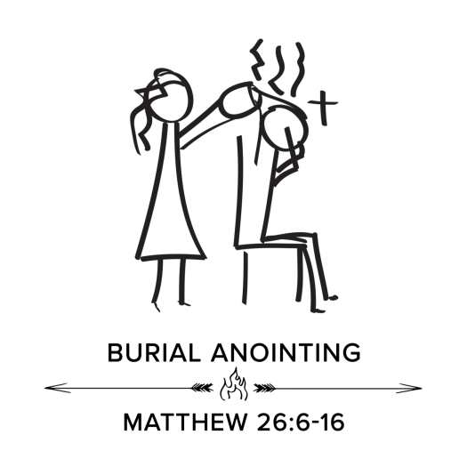 burial anointing square