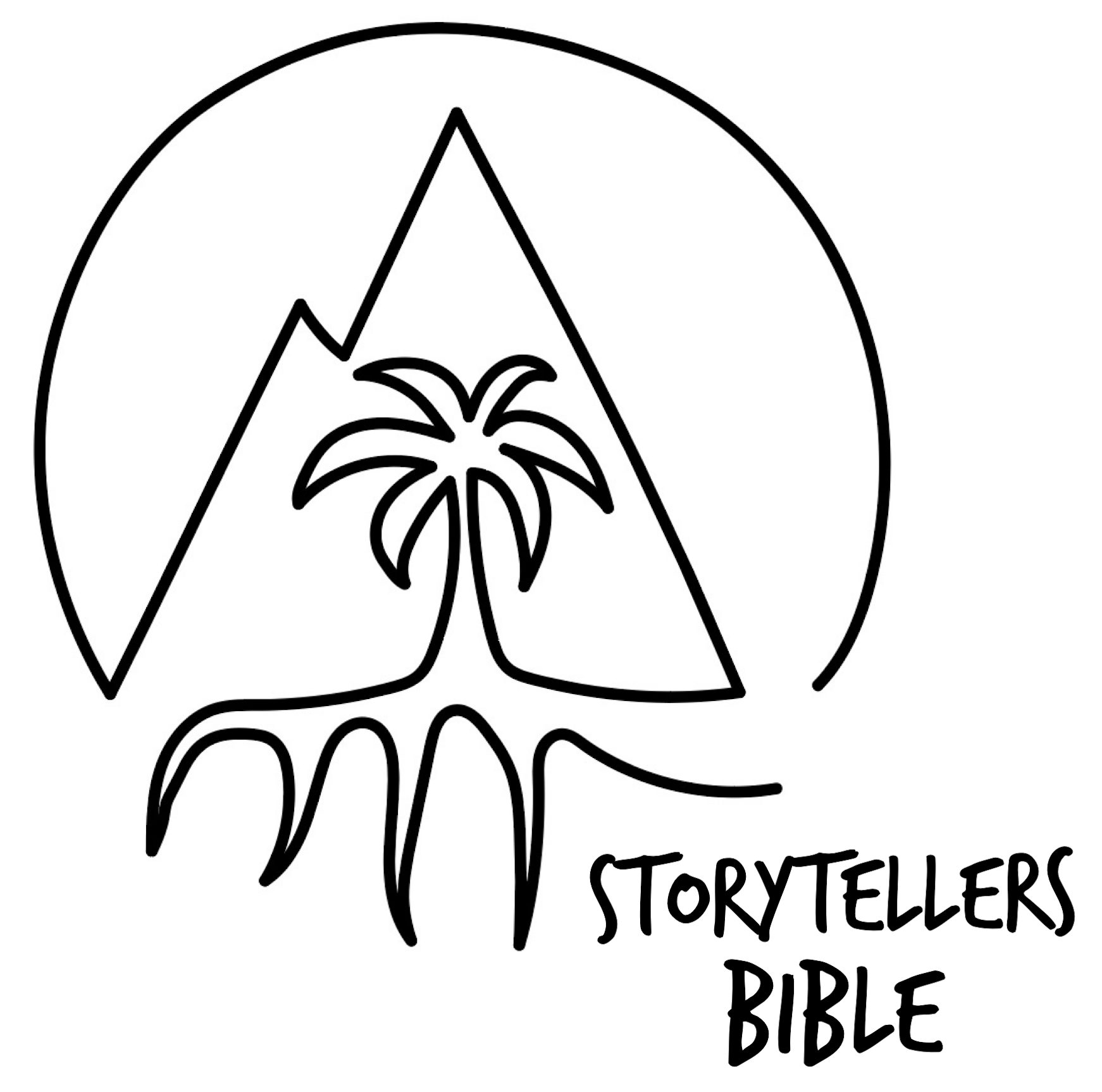storytellers bible logo draw